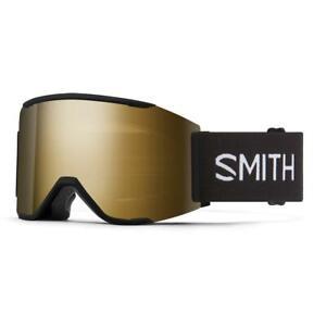 Smith Squad Mag Goggles Black Chromapop Sun Black Gold Mirror+Bonus