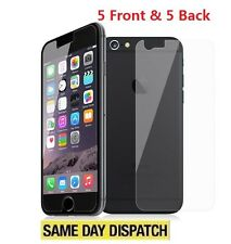 "New iPhone 7 4.7"" Anti-scratch 5 Front and 5 Back Clear Screen Protectors Film"