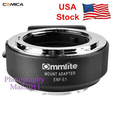 *US Stock* Commlite ENF-E1 PRO AF Adapter Nikon F Lens To Sony E A9 A7II A7R III