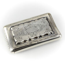Dutch .833 Silver Snuff Box; 19th Century,  Hand Chased Floral Designs 49.11g