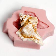 Silicone Conch Sea Shell Flexible Mold Fondant Chocolate Soap Wax Resin  (58)