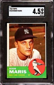 1963 Topps Baseball #120 ROGER MARIS, New York Yankees,    SGC 4.5  VG/EX+