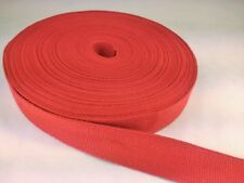 25 feet of 3/4 inch wide RED COTTON webbing