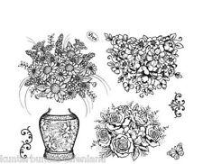 Silikon-Stempel * Kombistempel Blumenvase * Setgröße 14 x 18 cm * VIVA DECOR