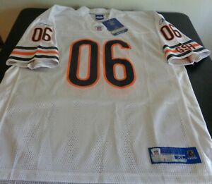 CHICAGO BEARS Football REEBOK Replica #06 Chestnut Size XL Jersey NEW White NFL