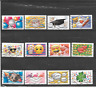 FRANCE 2018.EMOJI.SERIE COMPLETE DE 12 TIMBRES AUTOADHESIFS OBLITERES