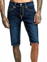 True Religion Men's Ricky Super T Straight Cut Off Denim Shorts - 103270