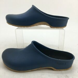 Sloggers Garden Clogs Womens 8 Blue Slip On Casual Comfort Mules Made In USA