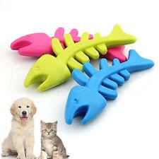 Chien chiot chat jouet mâcher en caoutchouc Fishbone dents dentaires dog toys