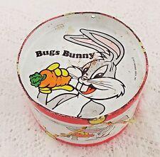 VINTAGE 1975 BUGS BUNNY TOY METAL DRUM WARNER BROTHERS LOONEY TUNES