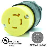NEMA L14-20R 20A 125/250V Locking Female Receptacle Plug Industrial Grade 4Prong