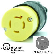NEMA L14-20R 20A 125/250V Locking Female Receptacle Plug Industrial Grade 4Prong