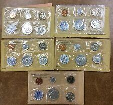 {BJSTAMPS} 1961 Proof Set Flat Pack Original Envelopes US Silver lot of 5