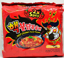 Samyang Spicy Nuclear Fire ChallengeX2 Chicken Korean Super Hot Ramen X5