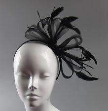 Net Hoops Feather Headband Fascinator Wedding Ascot Hairband Alice Band Races