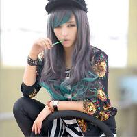 Lolita Harajuku Women Lady Long wavy curly Hair Full Wigs Cosplay Party Wig }