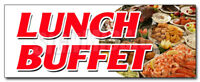 LUNCH BUFFET DECAL sticker ayce all you can eat food luncheon quality