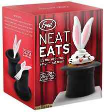Neat Eats - Magic Top Hat silicone Cupcake Molds & Forks Baking cooking Set of 2
