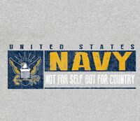 U.S. Navy USN Sport Band GRAY Adult T-shirt