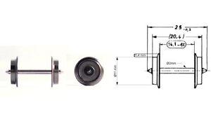 Fleischmann H0 6561-S AC Wechselstrom-Radsatz 11 mm (50 Stück) - NEU