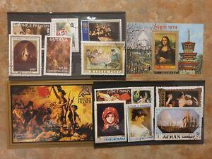 Art - 12 stamps - 2 mini/ souvenir sheets set 1