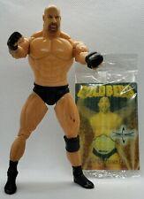 GOLDBERG WCW Toybiz Marvel 1999 Wrestling Figure & Little Caesars Hologram Card