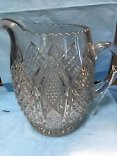 Lovely Pressed Glass Pitcher-gg