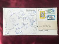 25 Autogramme Nationalmannschaft ÖSTERREICH-WM 1978-Postkarte aus Argentinien