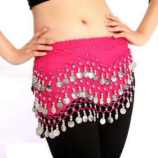 Belly dancing solid chiffon Hot pink hip scarf