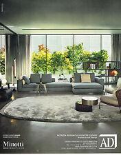 PUBLICITE ADVERTISING 114  2014   MINOTTI  fauteuils & canapés ROLDOLFO DORDONI