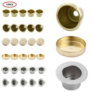 10Pcs Metal Brass Candle Cups Tapered Wax Candles Holder for Candle Making Lamp