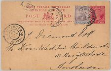 52016 - TRINIDAD - POSTAL HISTORY -  STATIONERY CARD to THE NETHERLANDS 1897