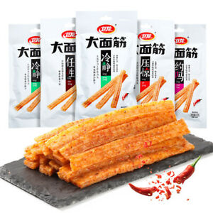Weilong Chinese Specialty Snack food Latiao Da Mian Jin卫龙辣条面筋零食小吃5袋(65克/袋)