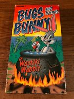 Bugs Bunny And Friends Wackiki Wabbit VHS VCR Tape Movie Cartoon NR Used