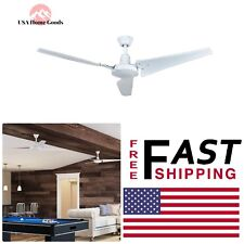HAMPTON BAY White Indoor Ceiling Fan 60 in. Wired Wall Control Single Mount