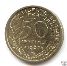 Ve REPUBLIQUE ESSAI DU 50 CENTIMES MARIANNE 1962 3,500 EXEMPLAIRES