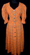 JOYLINE Country Classic Kleid Dirndl 40 EDEL 149,- große Metallknöpfe Karo