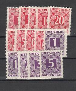 Österreich Porto aus Satz 232-259, die Werte xbs, **