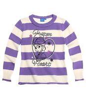 DISNEY pull sweat LA REINE DES NEIGES   8 ou 10 ans blanc et violet à rayures