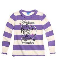 DISNEY pull sweat LA REINE DES NEIGES  6 8 ou 10 ans blanc et violet à rayures