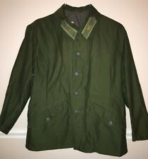 Vintage Swedish Military D100 Army Green Button Front Utility Jacket H 3 Crowns