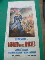 LOCANDINA manifesto GERONIMO IN AGGUATO DEGLI APACHES JAMES ELLISON WESTERN 1964