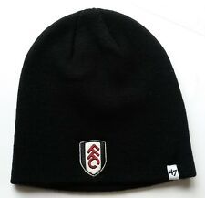 e7d066dd5a1 hat108) Fulham Football Club- brand new official beanie hat black mens 1  size
