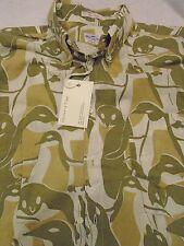 Gant Rugger 100% Cotton Arctic Camo Penguin Pattern Sport Shirt NWT Medium  $145
