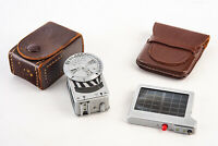 Metraphot Light Meter and Booster for Leica w Original Leather Cases TESTED V15