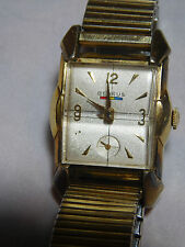 VINTAGE BENRUS 10K GOLD FILLED WATCH ART DECO STYLE WORKING