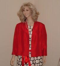 BNWT JACQUES VERT DRESS & BOLERO JACKET RED/CREAM/BLACK OCCASION UK 20 NEW £298