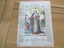 IMAGE D' EPINAL PELLERIN 1900 SAINTE ROSE DE LIMA RELIGIEUX  VOSGES