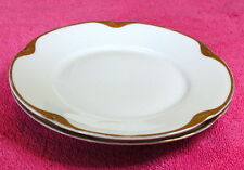 """{SET OF 2} Jaeger & Co (JAE8) 6 1/4"""" BREAD PLATES  White with Gold Trim"""
