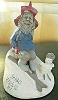 "Vintage Retired 1987 Tom Clark Gnome Figurine Cairn Studio ""Skibo"" #30 - #15027"